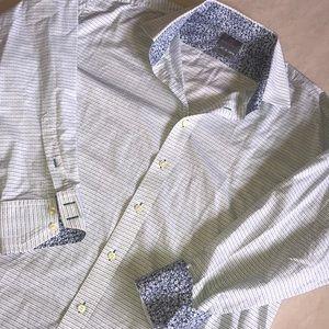 Thomas Dean Designer Dress Shirt 2XG XL